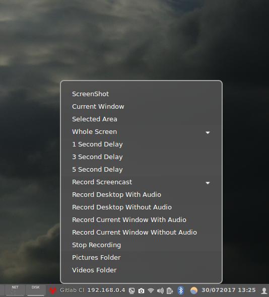 Applets : ScreenShot+Record Desktop : Cinnamon Spices