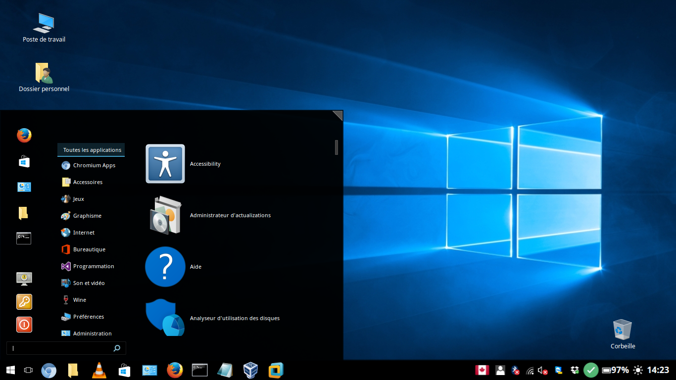 linux machine windows 10